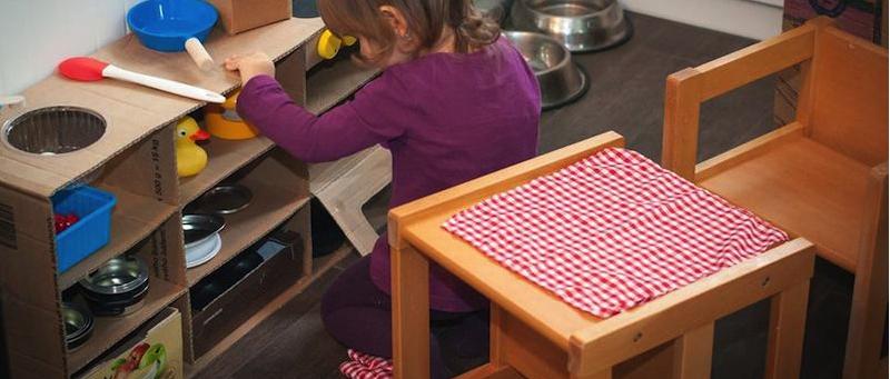Montessori detské drevené stoličky Dorotka