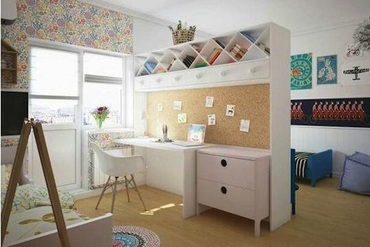 Pomocou nábytku sa dá izba rozdeliť pre viacerých súrodencov.